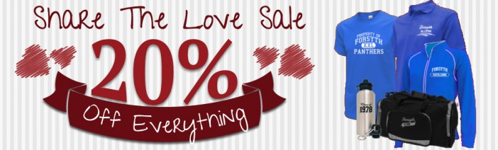 Share the Love Sale! 20% OFF!