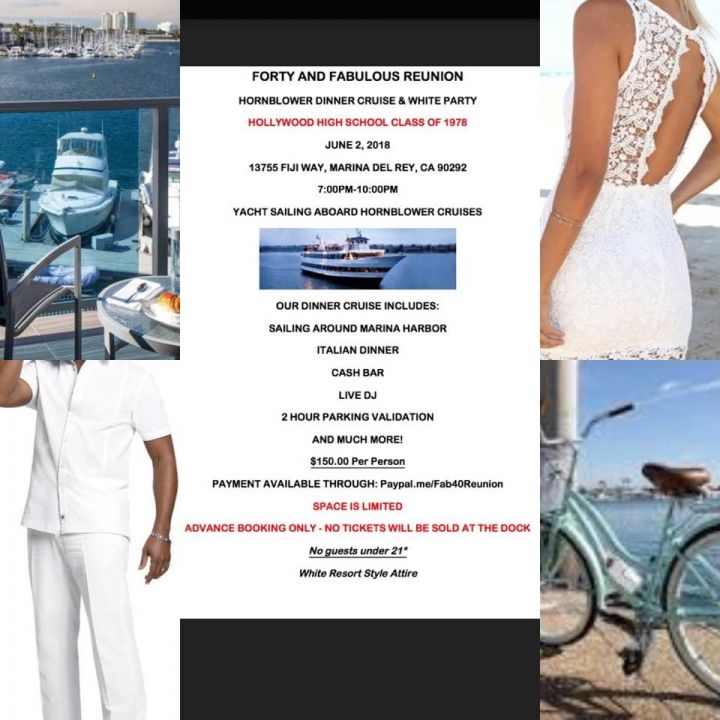Class of 1978 Fabulous 40 Year Reunion, Private Dinner Cruise & White Party