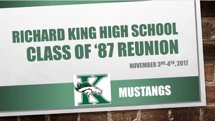 Richard King High School 30-year Reunion