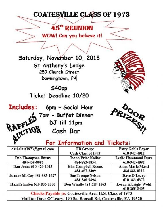 45th Class of 1973 Reunion