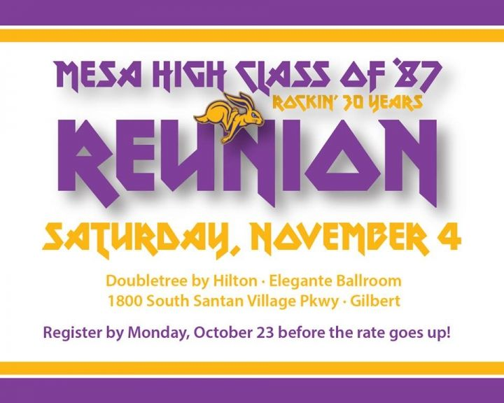 Mesa High School Class of '87 Reunion!