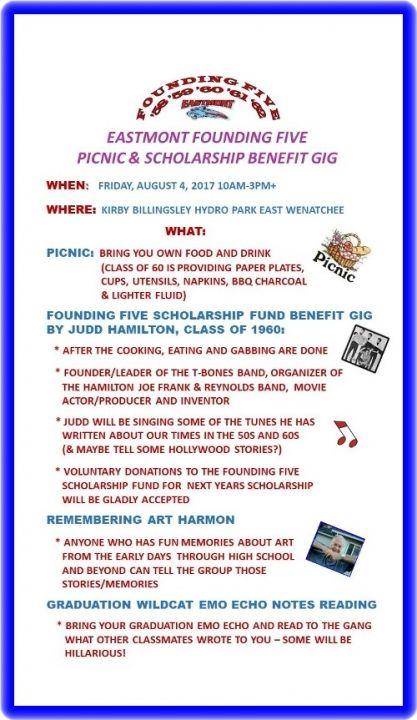 Founding Five Picnic & Scholarship Benefit Gig