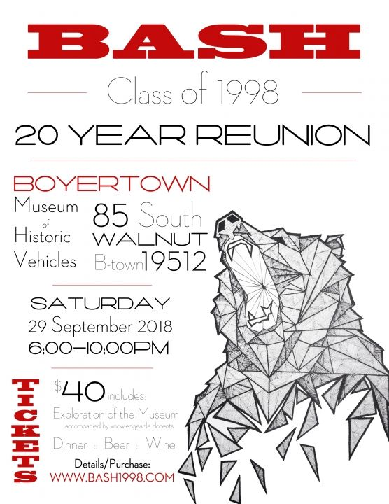 BASH Class of 1998 20 Year Reunion