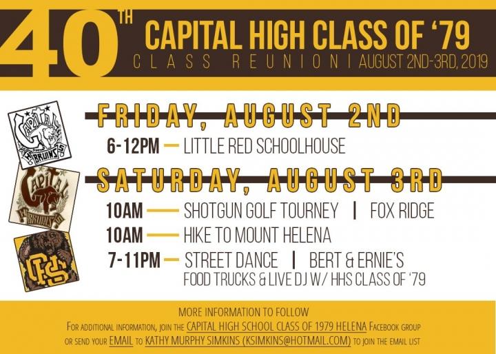 Class of 1979 Capital High Helena MT
