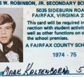 Mark Kaltenborn, class of 1975