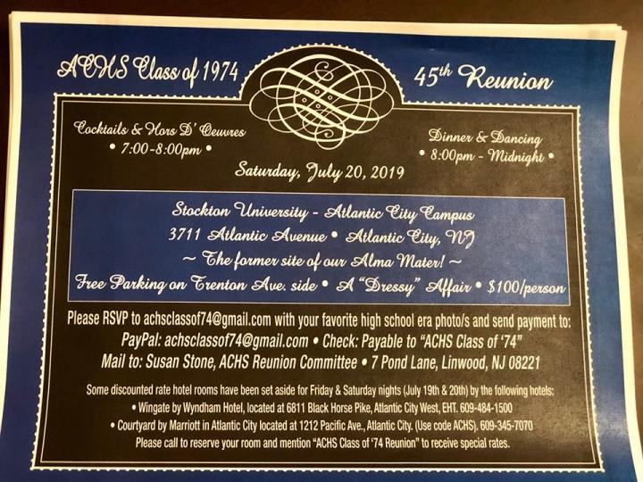 ACHS Class of 1974 Reunion