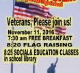 Veterans Day Celebration 11-11-2016