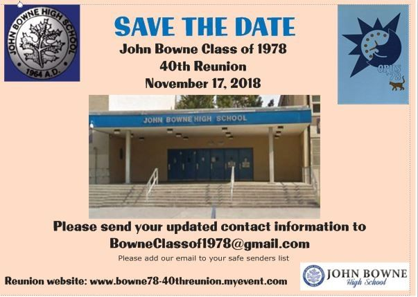 Bowne Class of 1978 40th Reunion