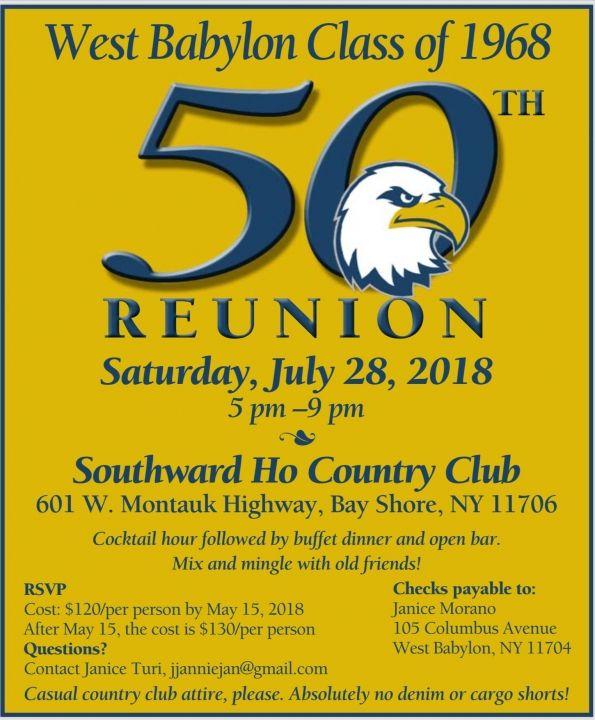 Class of 1968 50th reunion