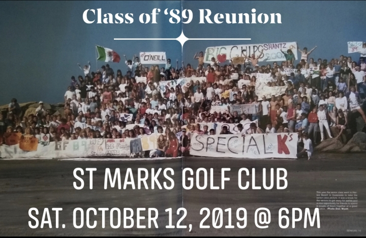 Class of 1989 Reunion - THE BIG 30 YEAR CELEBRATION!