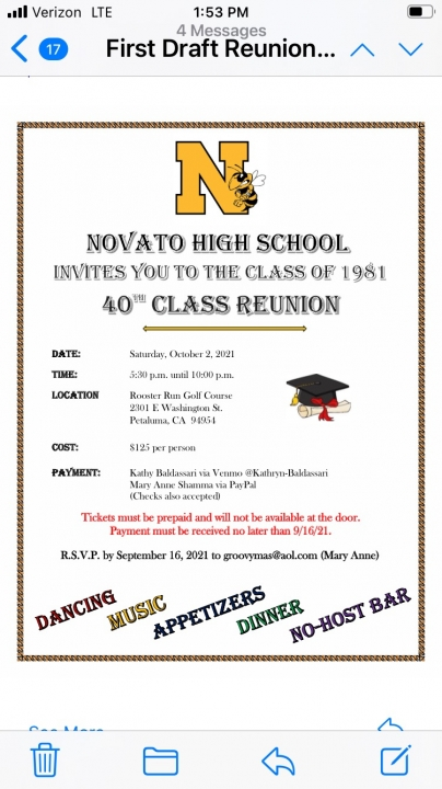 Class of 1981 40th Reunion