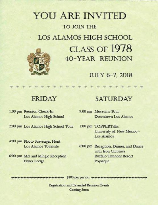 Class of 1978 40-Year Reunion