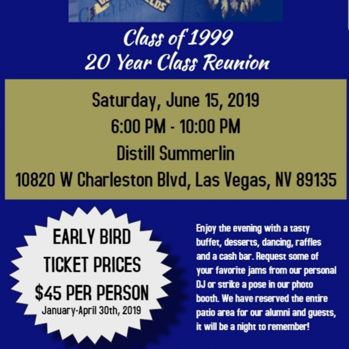 Class of 1999 20 year reunion