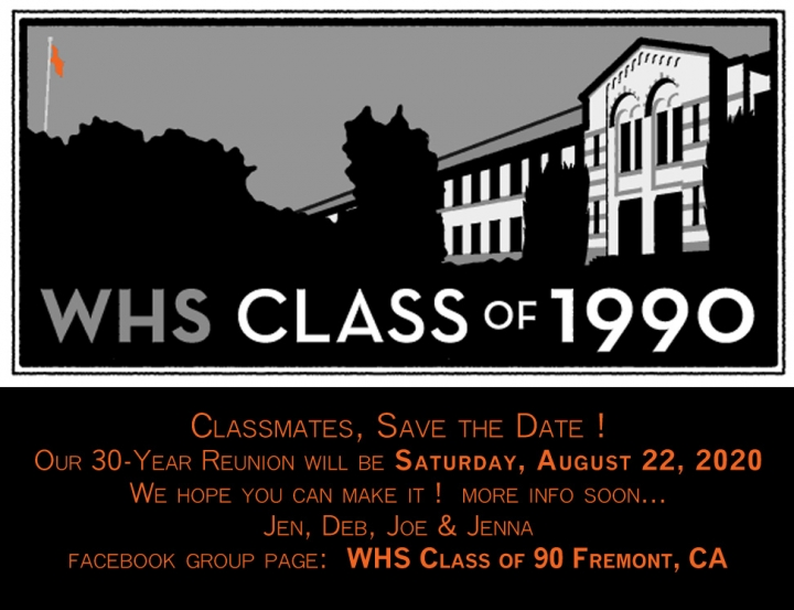 Class of 1990 30-Year Reunion SAVE THE DATE