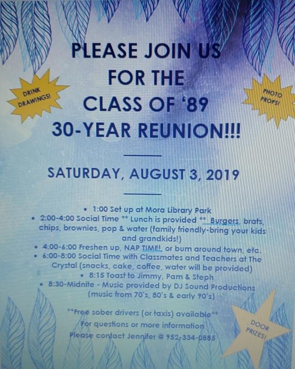 Class of '89 - 30th Reunion!