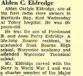 Alden Carlyle Eldredge, 60